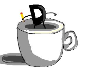 Dark Drawception D in a mug