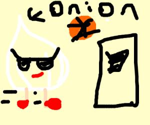 Onion walks into court