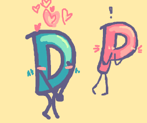 Drawception D being in love with a cute pink