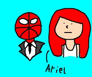 Spider-man marrying Ariel