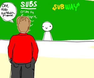 Pewdiepie Wants a Sub-Sandwich