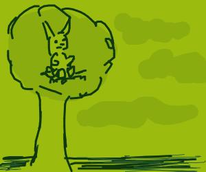 A lil' Bunny Sittin In A Tree