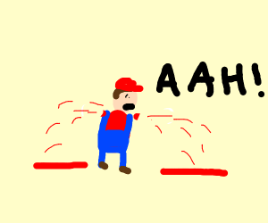 It's mario but w/o arms and screaming(?)