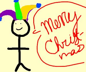 Jester says merry cristmas