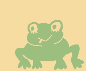 Tsuyu but she's an actual frog