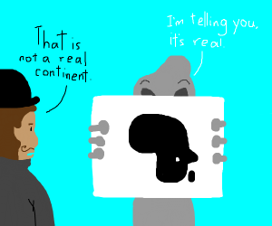 Alien can't convince man that Africa exists