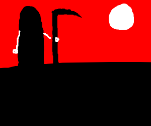 Death Looks To The Moon