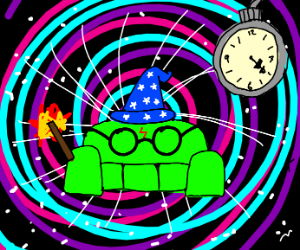 A couch is a wizard of space and time