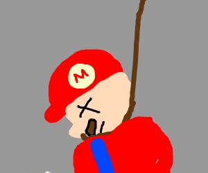 Mario hangs him self