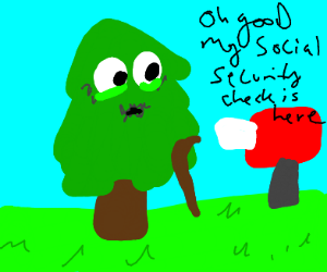 tree gets social security check