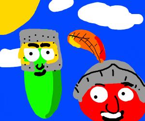 Vegetales as knights