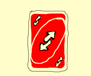red reverse card
