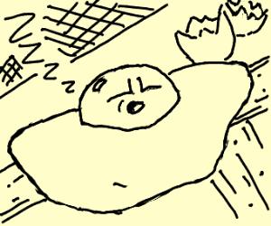 Sleeping egg yolk
