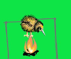 Spit Roasted Kiwi Bird