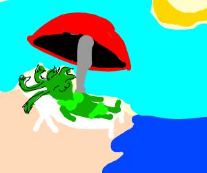 Medusa's Day At The Beach
