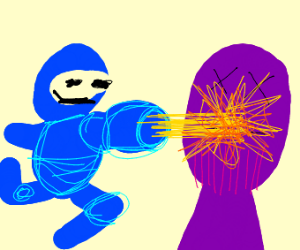 Megaman X kills Thanos