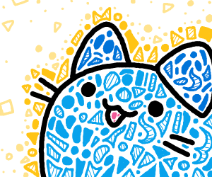 Blue pusheen cat.