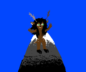 Mountain Deer Lady