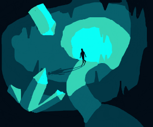 a crystal cavern