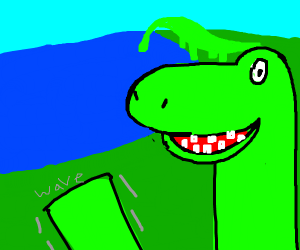 Happy Dino waving