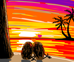 Date at sunset