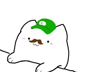 cute chibi luigi ( bongo cat style )