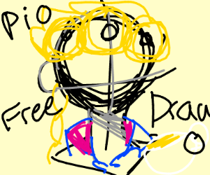 Free draw-- but made of stained glass PIO!!