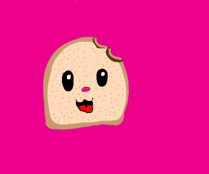 cute slice of bread