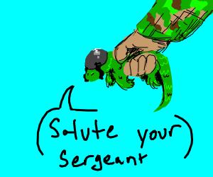 military grade lizard