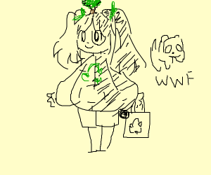 WWF-chan (anime girl)