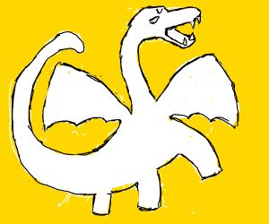 screaming white dragon