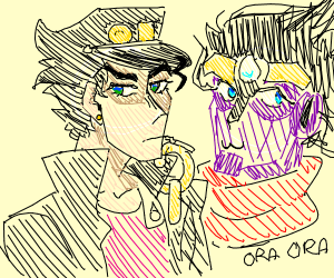 Jotaro Kujo and Star Platinum