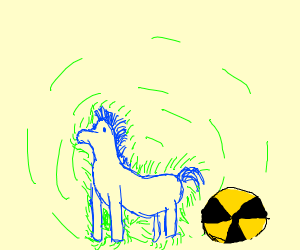 radioactive blue pony