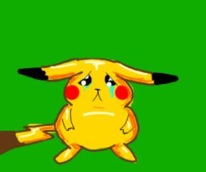sad cute pikachu