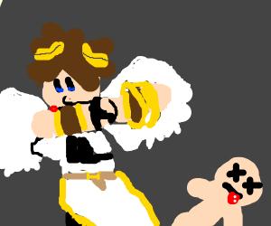 angel dabbing on dead people