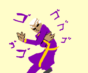 Pucci (jjba) doing the torture dance.