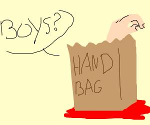 handbag looking for boys