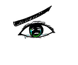 Eye w/ eyes cries