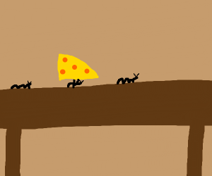 Ant lifting cheese