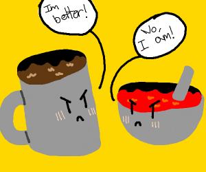 coffee vs tomato soup