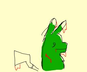 bleeding green pikachu