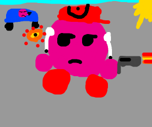 LOOK OUT! KIRBY HAS A GUN!!!