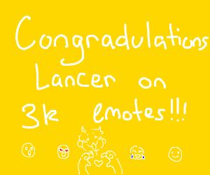 Lancer got 3k emotes