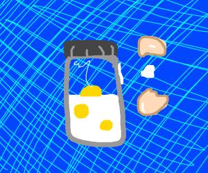 Egg yolks in a jar