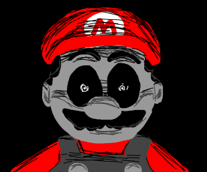 Creepy horror mario
