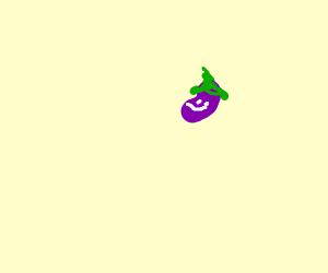 baby eggplant with face