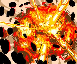 An explosion