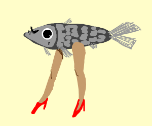 Fish with women legs