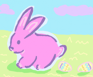 easter bunny poops out easter eggs