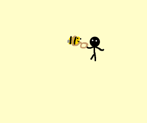 someone leaded a bee in minecraft